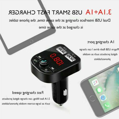 USA Bluetooth Car USB Charger FM Radio Adapter MP3 Player