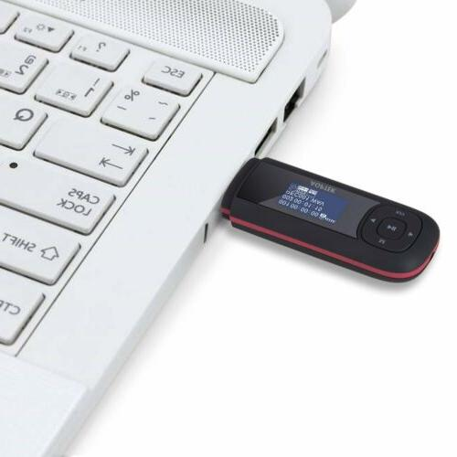 AGPTEK MP3 Player Battery Recording Black