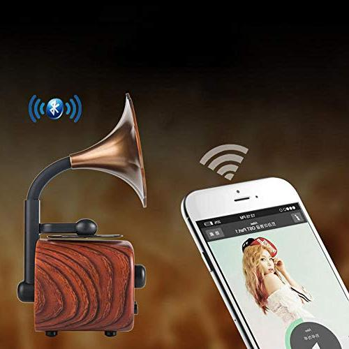 Eachbid Mini Speaker HiFi Sound Music Player,Pear Color