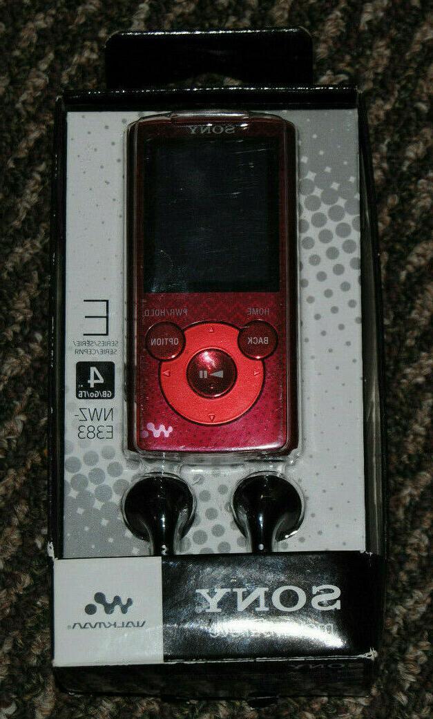 vtg sealed nwze383 4gb walkman red e