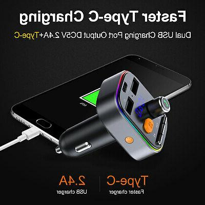 Wireless 5.0 Transmitter Car Charger Adapter Radio MP3