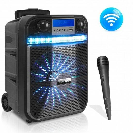 Wireless Portable PA Speaker System - 300W Bluetooth Compati