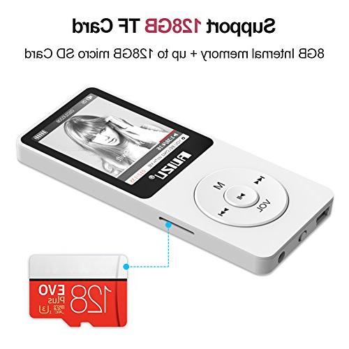 Mp3 Player, RUIZU with FM Voice Recorder, Play, Text Reading, Hours Playback and Up to 128