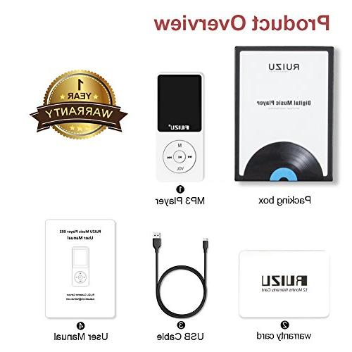 Mp3 Player, Ultra Music Player with Radio, Recorder, Video Reading, 80 and Expandable 128 GB