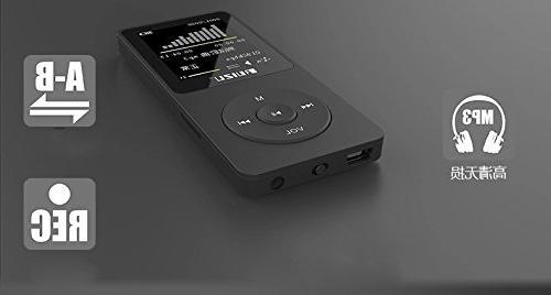 RUIZU X02 Ultrathin MP3 Black
