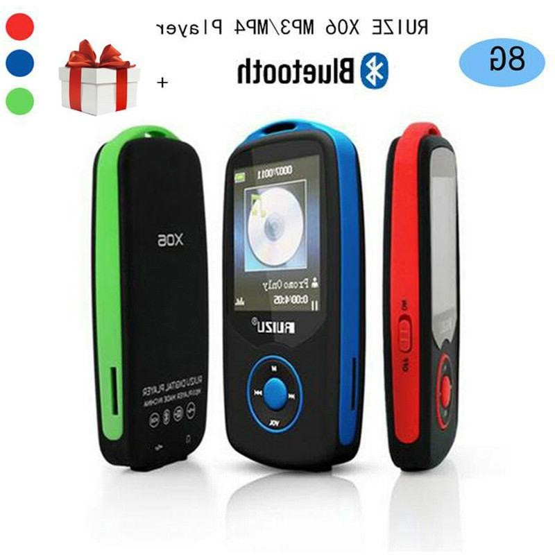 "RUIZU X06 Bluetooth MP3 Music Player 1.8"" Screen Voice Recor"