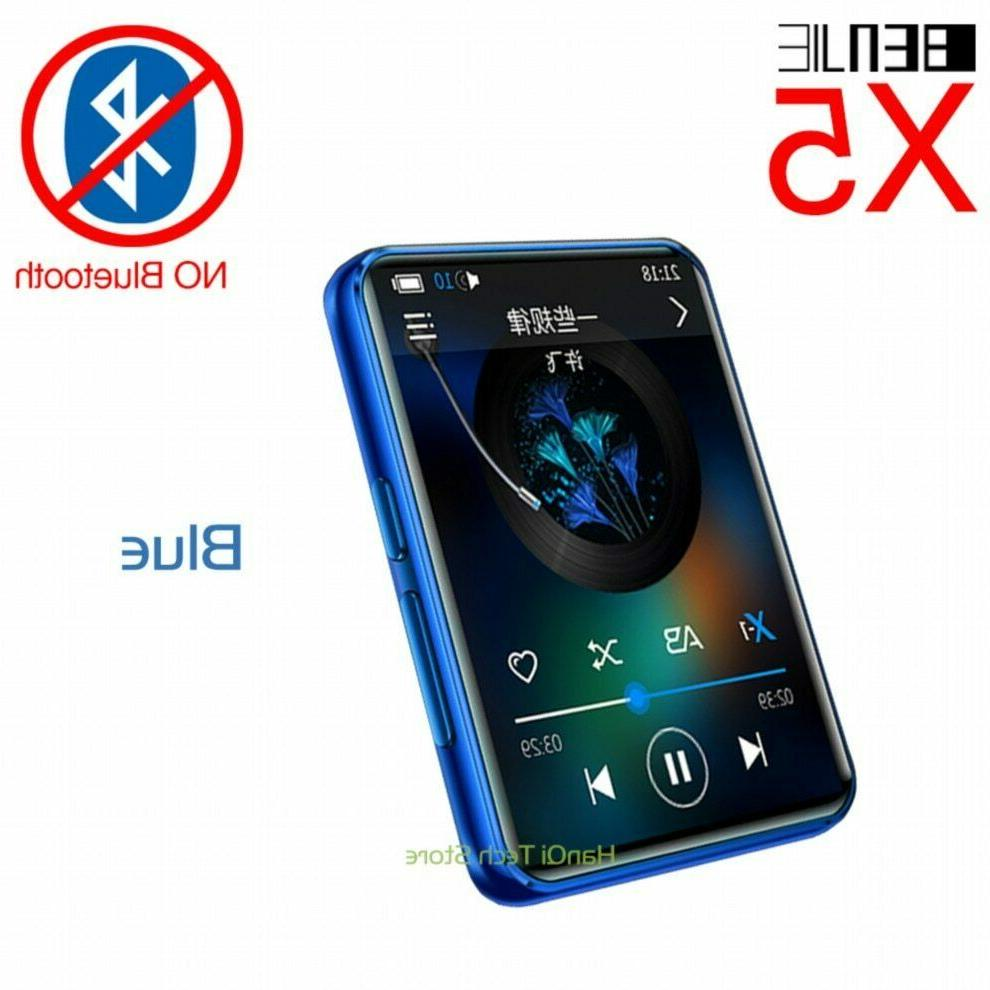 BENJIE Screen Bluetooth 8GB 16GB Music Player With