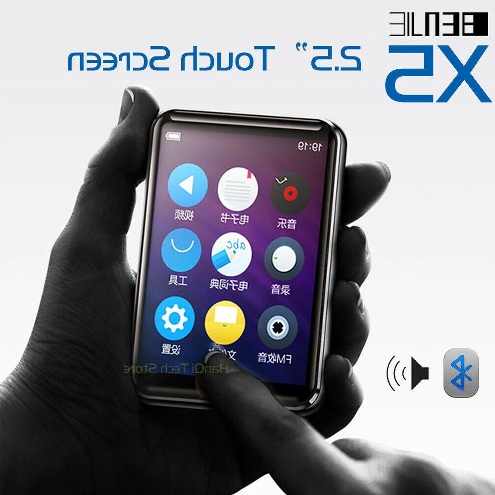 x5 full touch screen bluetooth mp3 player