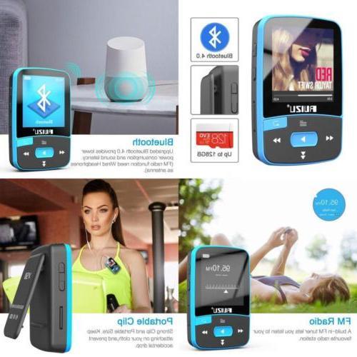 RUIZU X50 Bluetooth 4.0 Mp3 Player, Portable Clip Sport Musi