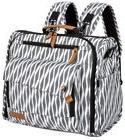 ALLCAMP Zebra Diaper Bag Backpack, Black and White,New