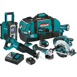 Makita XT704 7 Piece 18 Volt LXT Lithium-Ion Combo Kit New
