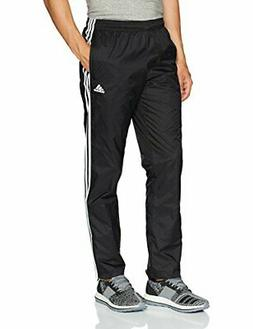 adidas Men's Essentials 3-Stripe Wind Pants, Black/Black/Whi
