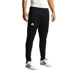adidas Men's Soccer Tiro 17 Training Pants, Black/Black, Sma