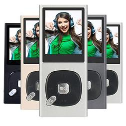 FecPecu Metal MP3 Player, 8GB Music Player Hi-Fi Sound 60 Ho