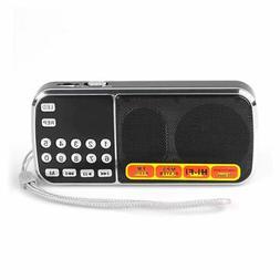 Mini LCD Receiver Digital FM Radio Speaker USB Micro SD TF C