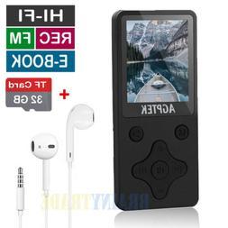 AGPtEK Mini MP3 Lossless Sound Music Player 32GB 100 Hours P