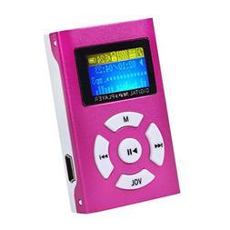 Mandy Mini MP3 Player LCD Screen Red