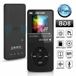 Mini MP3 Player Portable Music FM Radio Recorder Hi-Fi Lossl