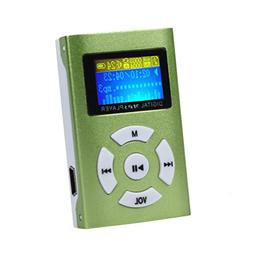 DATEWORK Mini MP3 Player LCD Screen Support 32GB Micro SD TF