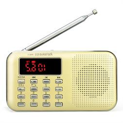 Retekess Mini Portable FM/AM Radio Rechargeable MP3 Player L