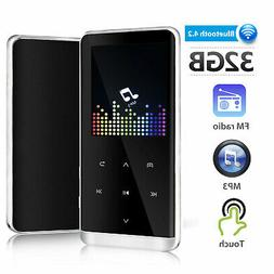 32GB Bluetooth LED Touch Screen MP3 Player Sound Recorder Mu