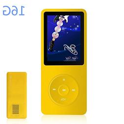 HONGYU 16GB MP3 / MP4 Music Player Hi-Fi Sound 50 Hours Play