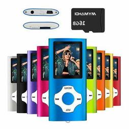 MYMAHDI MP3/MP4 Music Player with 16 GB Card Color:Blue