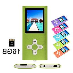 RHDTShop MP3 MP4 Player with a 16 GB Micro SD card, Support