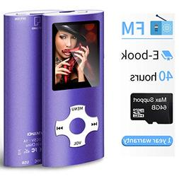 Mymahdi MP3/MP4 Portable Player,1.8 Inch LCD Screen and Micr