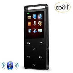 HONGYU 16GB Bluetooth mp3 player ,1.8 Inch Color Screen Meta