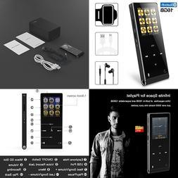 MP3 Player 16GB Bluetooth Digital Music W FM Radio/Voice Rec