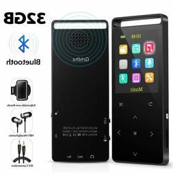 Grtdhx MP3 Player 32GB Bluetooth HiFi Lossless Audio Portabl