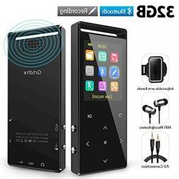 Grtdhx MP3 Player, 32GB MP3 Player with Bluetooth, Hi-Fi Los