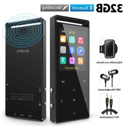 Grtdhx MP3 Player, 32GB MP3 Player with Bluetooth, Hi-Fi Los