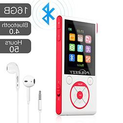 MP3 Player with Bluetooth and FM Radio,16GB Portable HIFI Lo