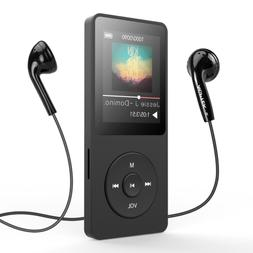 AGPTEK MP3 Player Bluetooth 4.0 8GB Upgraded with FM Radio/V
