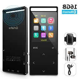 MP3 Player with Bluetooth ,16GB Music player with FM Radio/