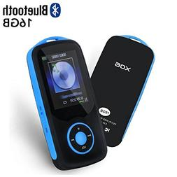 Mp3 Player with Bluetooth 16GB Support up to 64GB-Blue by TI