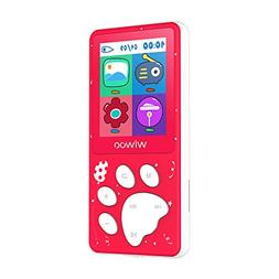 Wiwoo MP3 Player for Kids,Portable 8GB Music Player with F