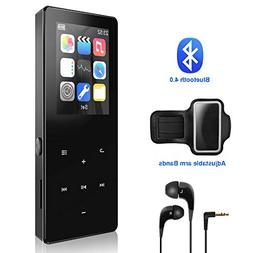 Mp3 Player,8GB with Bluetooth 4.0 Ultra Slim Portable Lossle
