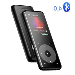 AGPTEK MP3 Player Bluetooth 16GB FM Radio HIFI Music Player