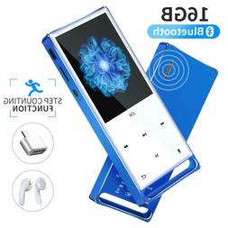 MYMAHDI MP3 Player, Bluetooth 16GB Lossless,FM Radio/Records