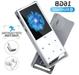 MP3 Player, Bluetooth 16GB Lossless,FM Radio/Records by one