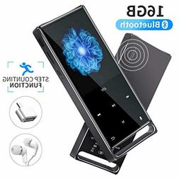MYMAHDI MP3 Player, Bluetooth 16GB Lossless,FM Radio/Footste