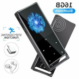 MYMAHDI MP3 Player, Bluetooth 16GB Lossless,FM Radio/Footste