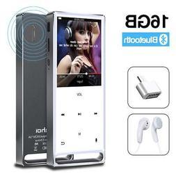 MYMAHDI MP3 Player Bluetooth 16GB LosslessFM Radio/Records b