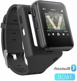 AGPTEK MP3 Player Bluetooth 16GB with Clip Watchband Sport M