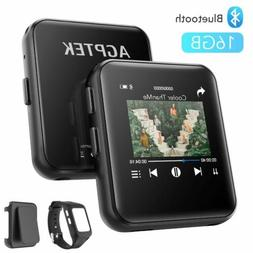 AGPTEK MP3 Player Bluetooth 16GB with Clip Watchband Sport M