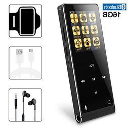 MP3 Player 16GB Bluetooth Digital Music Player with FM Radio