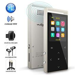 MP3 Player,16GB Bluetooth mp3 Player with FM Radio,Speakers,